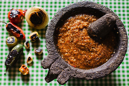 Salsa Tatemada, mexican sauce made with burnt chilies in mexico.jpg