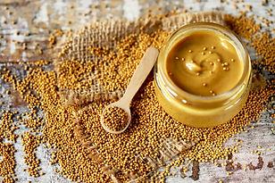 Mustard in a jar. Mustard Seeds Vegan concept. Healthy diet. Selective focus. Macro..jpg