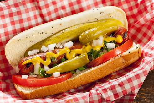 Chicago Style Hot Dog with Mustard, Pickle, Tomato, Relish and Onion.jpg