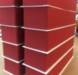 caja rigida forrada