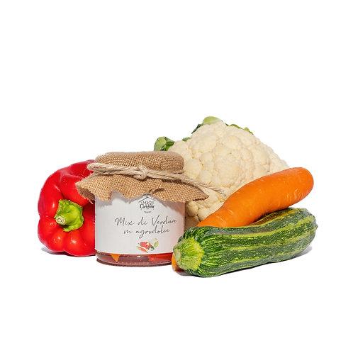 Mix di verdure in agrodolce