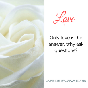 Only love is the answer