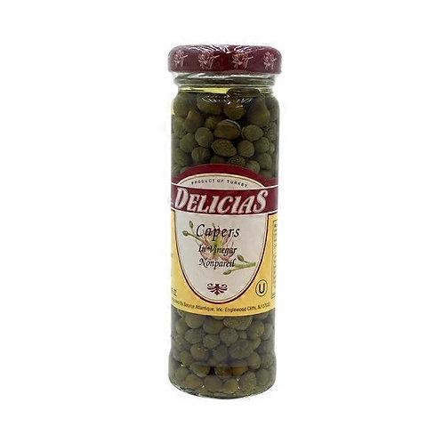 Delicias Capers, in Vinegar, Nonpareil - 3.5 oz