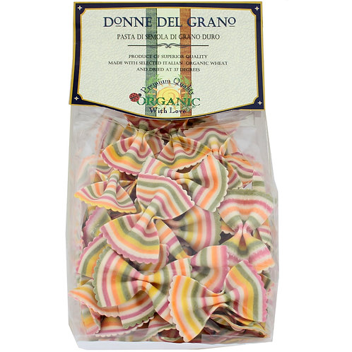 Organic Rainbow Bowtie Pasta
