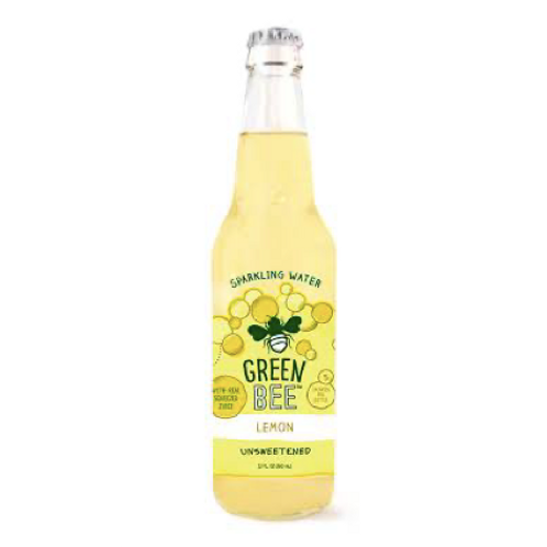 Green Bee Sparkling Water - Lemon 12 OZ
