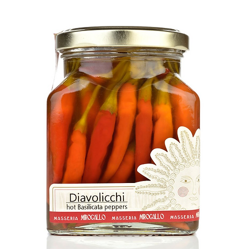 Diavolicchi Hot Peppers in Extra Virgin Olive Oil from Masseria Mirogallo