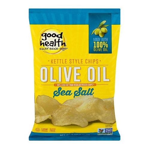 Good Health Kettle Style Olive Oil Chips Sea Salt