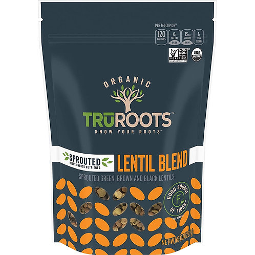 Truroots Sprouted Lentil Trio, Organic