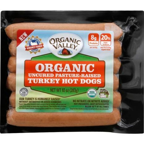 Organic Turkey Hot Dogs - 10 Ounces