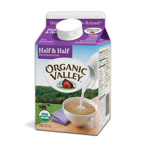 Organic Valley Half & Half - 16 oz
