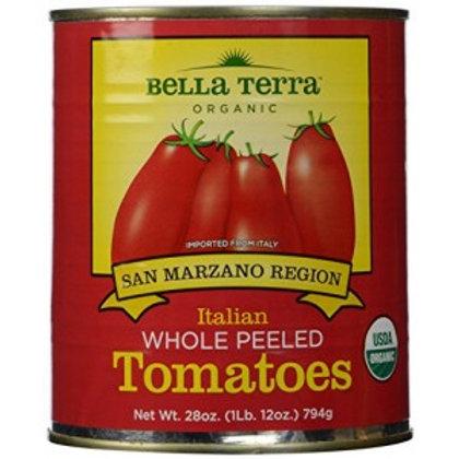 Whole Peeled San Marzano Region Organic Tomatoes 28oz