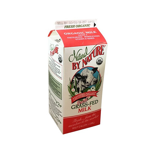 Natural by Nature Organic Fresh Grass-Fed Whole Milk