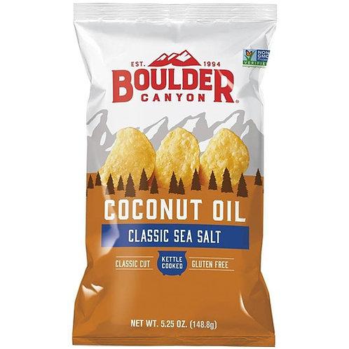 Boulder Canyon Coconut Oil Potato Chips Sea Salt - 5.25 oz