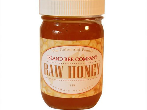 Island Bee Company Raw Honey - 9 ounce jar