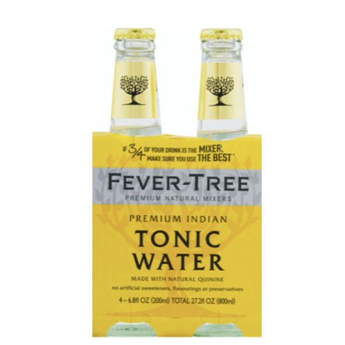Fever-Tree Premium Indian Tonic Water, 4PK