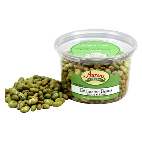 Aurora Natural Products Roasted Salted Edamame Beans, 7 Oz