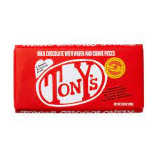 Tony's Chocolonely Milk Chocolate with Wafer and Cookie Pieces