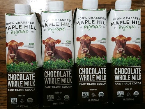 Maple Hill Grassfed Organic Chocolate Milk - 4/8 oz