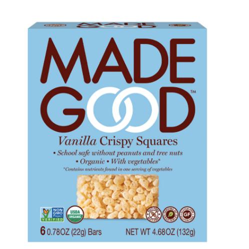 MadeGood Organic Crispy Squares GF Vanilla