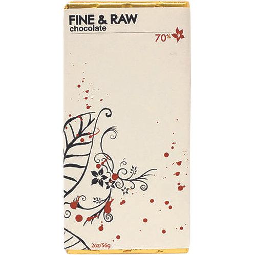 Fine & Raw Chocolate 70%  2 oz