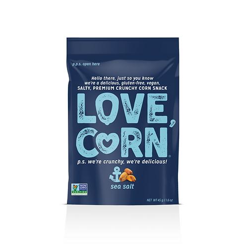 Love Corn Corn Snack, Sea Salt - 1.6 oz