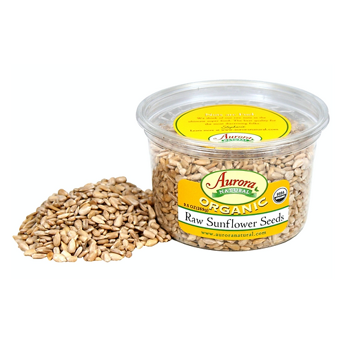 Aurora Natural Sunflower Seeds (Organic) not roasted - 9.5 Oz