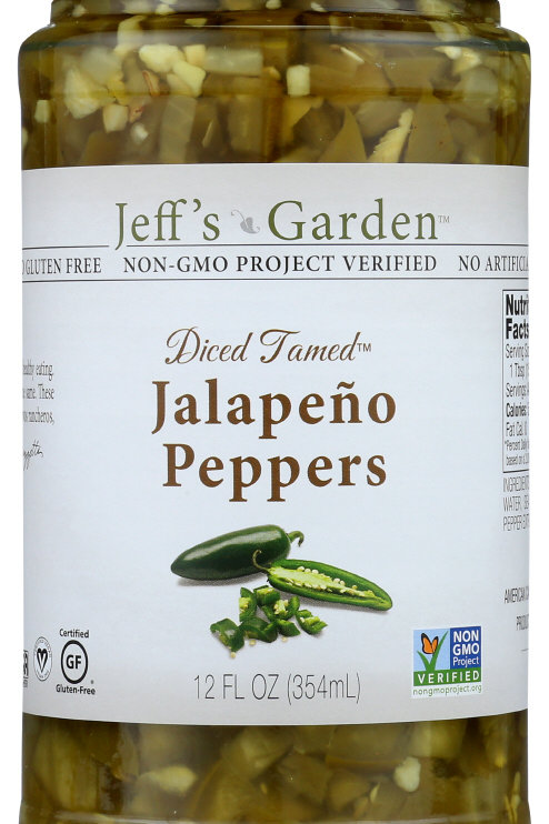 Jeff's Garden Jalapeno Sliced Tamed Peppers 12 oz