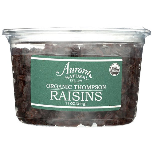 Aurora Natural Products Organic Thompson Raisins, 11 Oz.