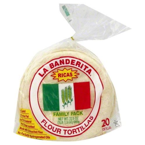 La Banderita Flour Tortillas Family Pack
