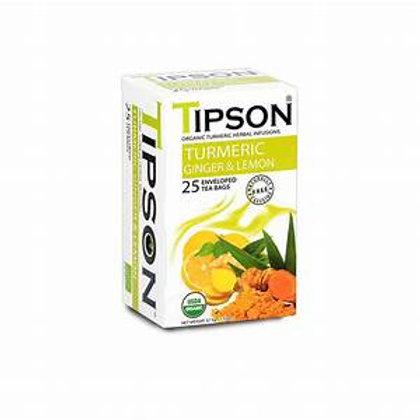 Tipson Organic Turmeric Ginger Lemon Tea 25 ct