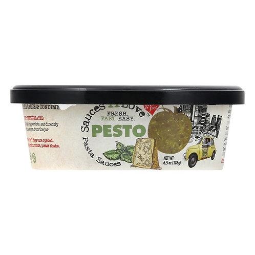 Sauces 'n Love Pasta Sauce, Pesto 6.5 oz
