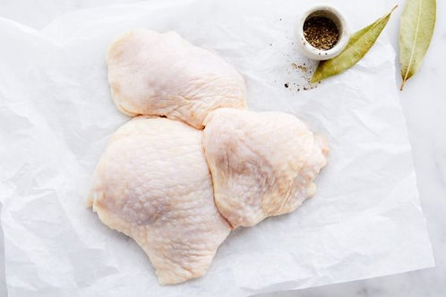 Chicken thighs, bone in skin on - Price per Pound