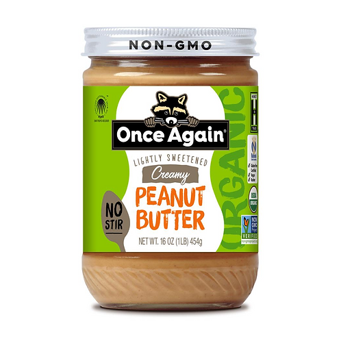 Once Again - Peanut Butter, Smooth Organic - 16 OZ