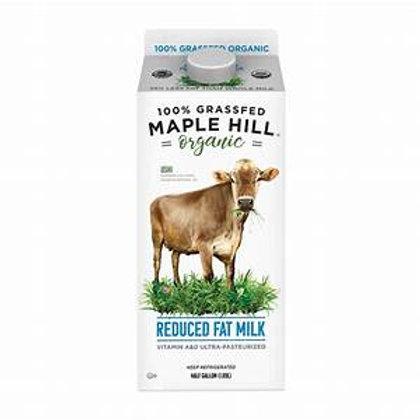 Maple Hill Grassfed Organic Reduced Fat Milk - 1/2 gal