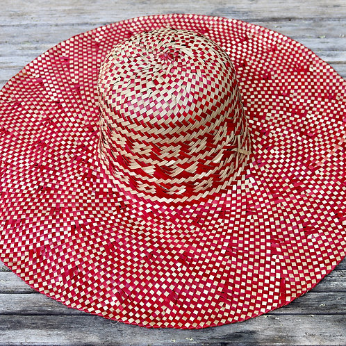 Large Sun Hat - Red