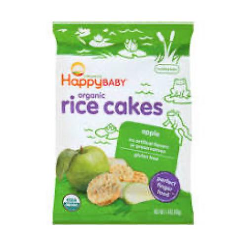 Happy Baby Organic Apple Rice Cakes - 1.4oz