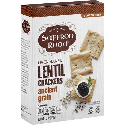 Lentil Crackers, Ancient Grain, Oven Baked