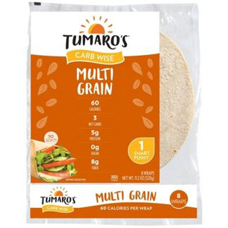 Tumaro's Low Carb Multi Grain Tortillas - 8-inch