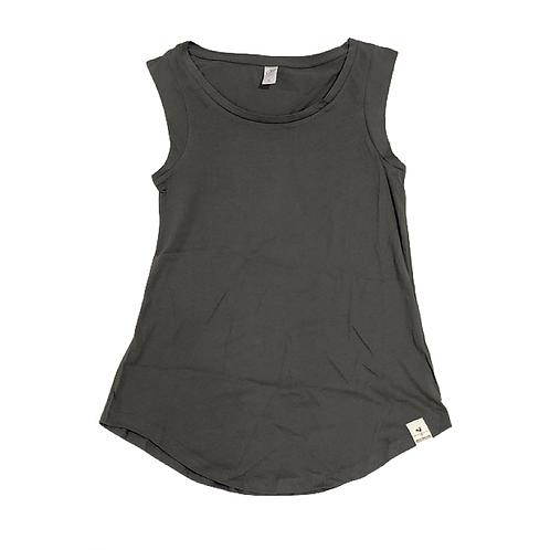 Women's Cap Sleeve Jersey Tank, Gray