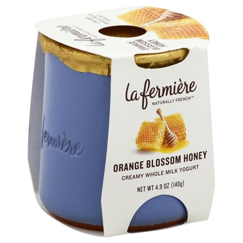 La Fermiere Yogurt, Orange Blossom Honey, Whole Milk, Creamy