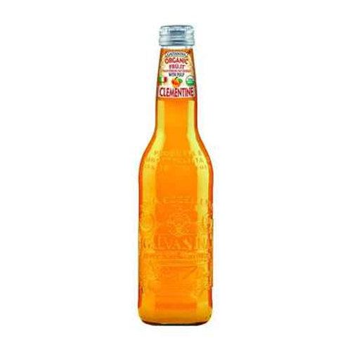 Galvanina Organic Clementine Soda with Pulp, 12 fl oz