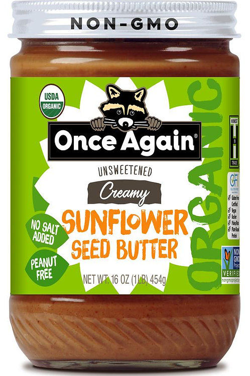 Once Again - Organic Sunflower Seed Butter Creamy 16 oz