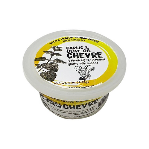 Nettle Meadow Chevre - Garlic And Olive Oil - 5oz