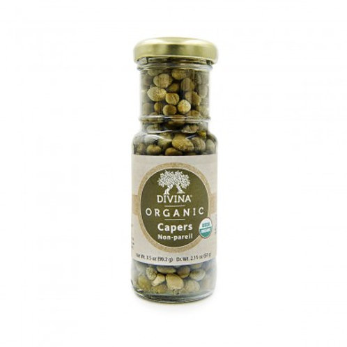 Divina - Capers Non-pareil Organic - 3.5 OZ