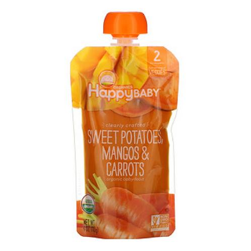 Happy Baby Organic Stage 2 Baby Food - Sweet Potatoes, Mangos & Carrots