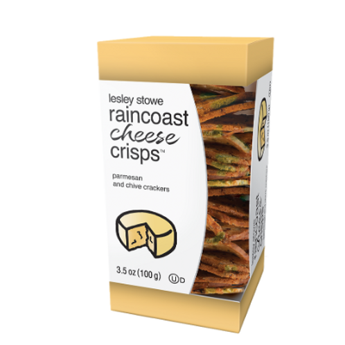 Lesley Stowe Raincoast Cheese Crisps, Parmesan and Chive