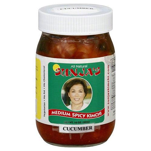 Sunjas Kimchi, Medium Spicy, Cucumber