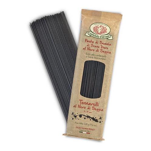 Squid Ink Tonnarelli Spaghetti Pasta - Rustichella d'Abruzzo