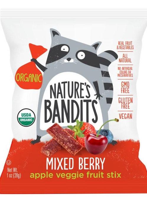 Nature's Bandits Organic Fruit & Veggie Stix - Mixed Berry 1oz