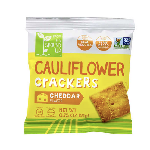 From The Ground Up Cheddar Cauliflower Crackers, 0.75 Oz